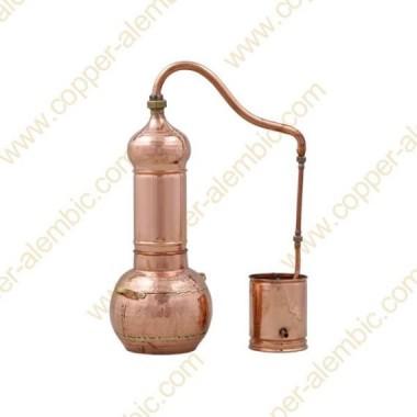 3 L Kupfer-Destillierkolben mit Rotierender Säule