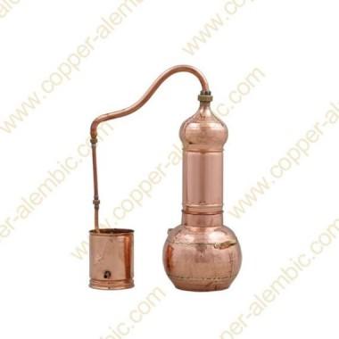 5 L Kupfer-Destillierkolben mit Rotierender Säule