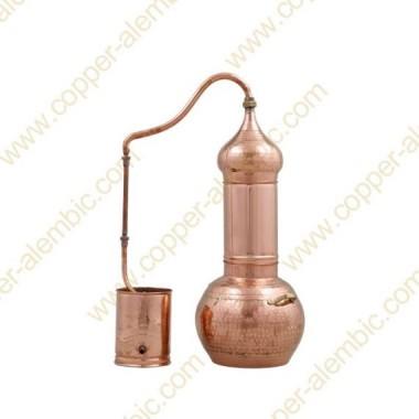 20 L Kupfer-Destillierkolben mit Rotierender Säule