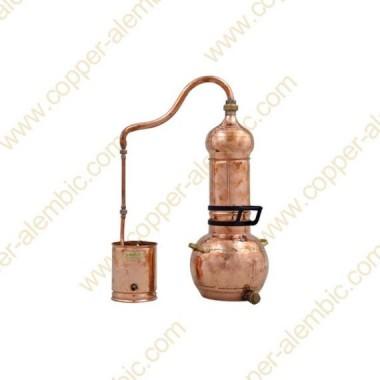 5 L Kupfer-Destillierkolben mit Rotierender Säule Premium