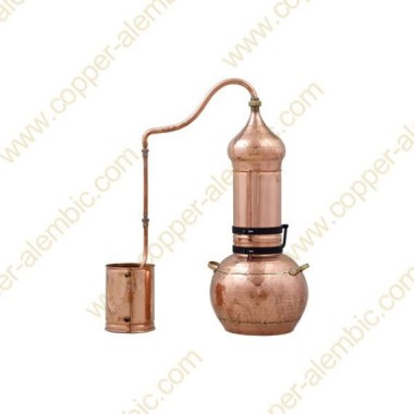10 L Kupfer-Destillierkolben mit Rotierender Säule Premium