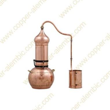 20 L Kupfer-Destillierkolben mit Rotierender Säule Premium