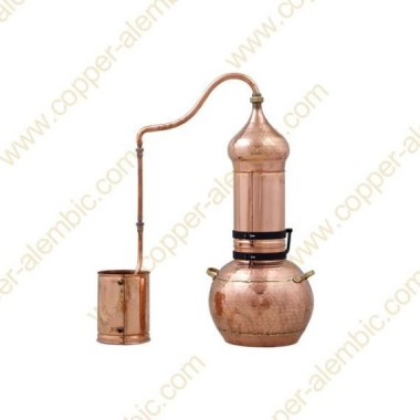 30 L Kupfer-Destillierkolben mit Rotierender Säule Premium