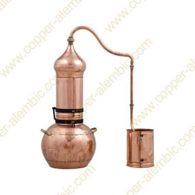 40 L Kupfer-Destillierkolben mit Rotierender Säule Premium