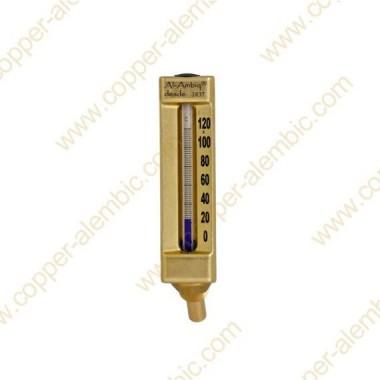 Termómetro de Cristal °C y Envoltura de Latón Soldado en el Casco