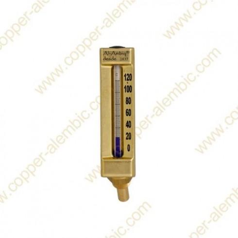 Glasthermometer (0º - 120º) an Dampfkammer geschweisst