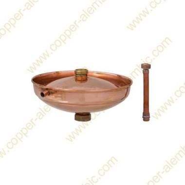 150 - 200 L Lentille Rectification en Cuivre - Déphlegmateur