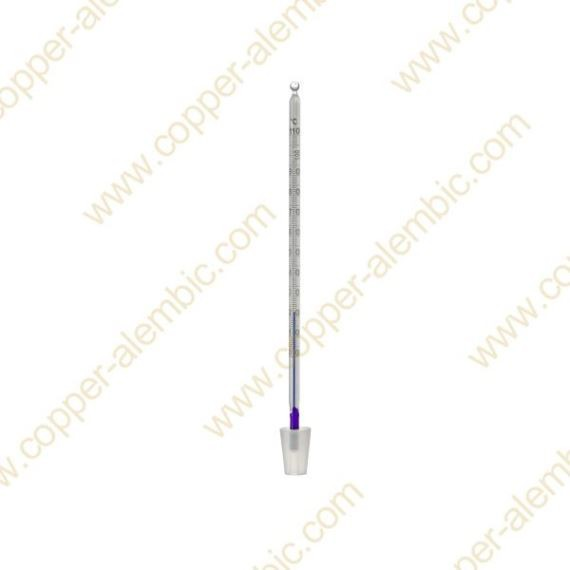 Glass Liquid Thermometer 0 - 110 °C with Silicone Bung