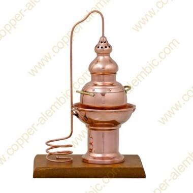 0,2 L Essential Oils Diffuser Copper Alembic Still & Wooden Base
