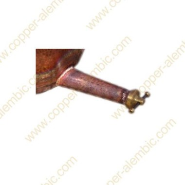 450 - 500 L Draining Pipe Soldered or Riveted with Ball Valve
