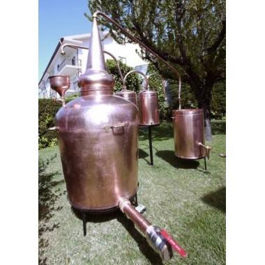 Más de 100 L Alambique Tradicional Whiskey Premium y Quemador de Gas