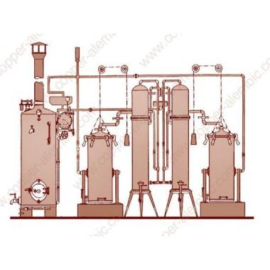 Arrastre de Vapor Portugués y 2 Columnas de Destilación