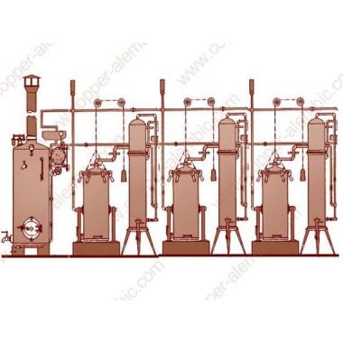 Arrastre de Vapor Portugués y 3 Columnas de Destilación
