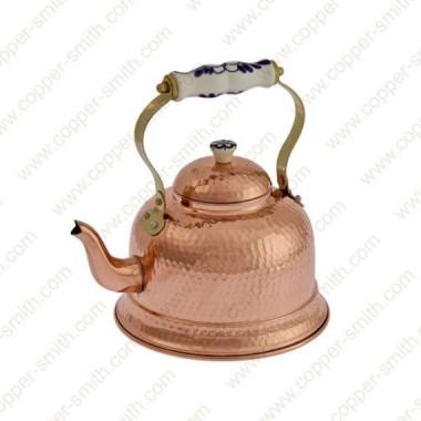 Gehämmerte 101 Teekanne mit Porzellangriff