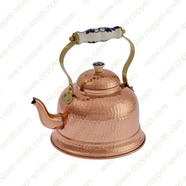 Hammered 101 Tea Pot with Porcelain Handle
