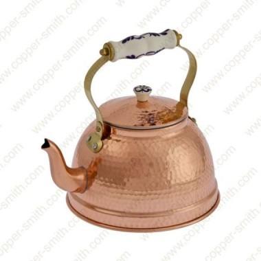 Hammered 102 Tea Pot with Porcelain Handle