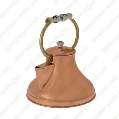Plain Tea Pot Number 1 with Porcelain Handle
