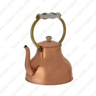 Plain Tea Pot Number 3 with Porcelain Handle