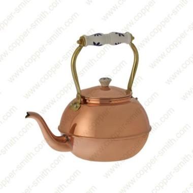 Plain Tea Pot Number 6 with Porcelain Handle