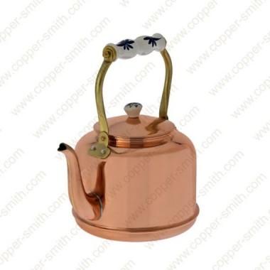 Plain Tea Pot Number 7 with Porcelain Handle