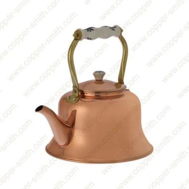 Plain Tea Pot Number 9 with Porcelain Handle