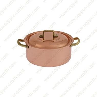 12 cm Casserole with Brass Handles