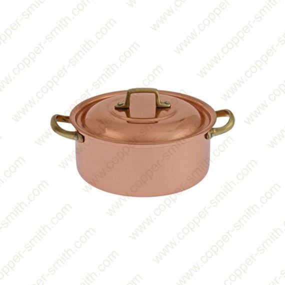 14 cm Casserole with Brass Handles