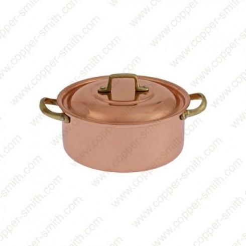 20 cm Casserole with Brass Handles