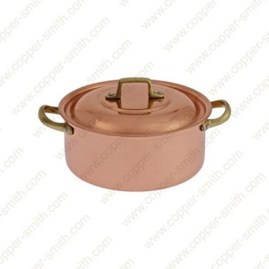 24 cm Casserole with Brass Handles