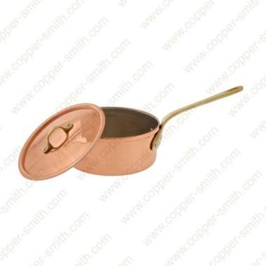 10 cm Kasserolle mit einfachem Messinggriff