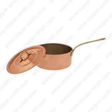 22 cm Casserole with Single Brass Handle