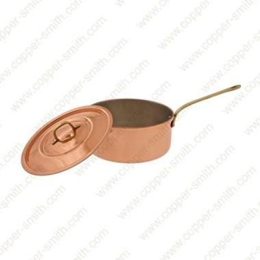 32 cm Casserole avec Poignée en Laiton