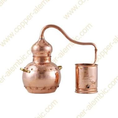 3 L Kupfer-Destillierkolben mit Nietverbindungen