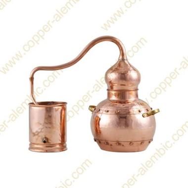 5 L Kupfer-Destillierkolben mit Nietverbindungen