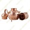 10 L Kupfer-Destillierkolben mit Nietverbindungen
