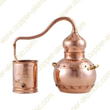 20 L Kupfer-Destillierkolben mit Nietverbindungen