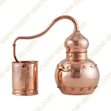 25 L Kupfer-Destillierkolben mit Nietverbindungen