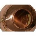 35 L Kupfer-Destillierkolben mit Nietverbindungen