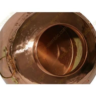 60 L Kupfer-Destillierkolben mit Nietverbindungen