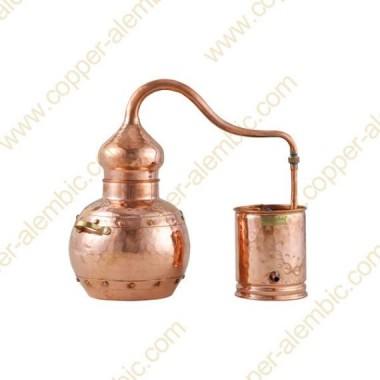 3 L Kupfer-Destillierkolben mit Nietverbindungen Premium