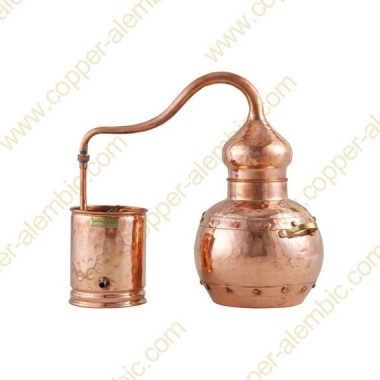 5 L Kupfer-Destillierkolben mit Nietverbindungen Premium