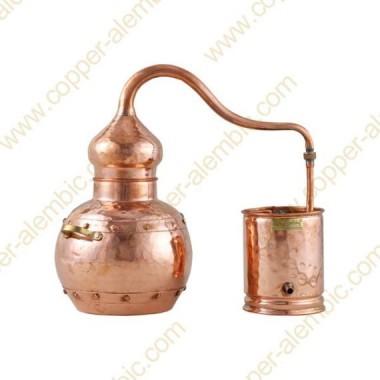 10 L Kupfer-Destillierkolben mit Nietverbindungen Premium