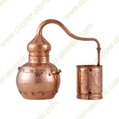 20 L Kupfer-Destillierkolben mit Nietverbindungen Premium