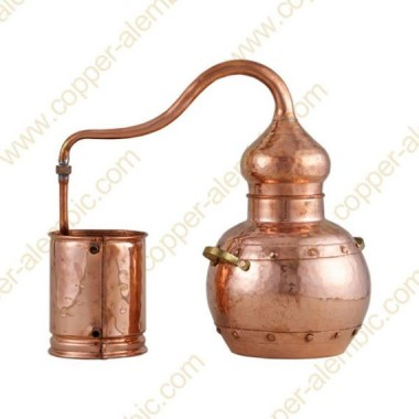 25 L Kupfer-Destillierkolben mit Nietverbindungen Premium