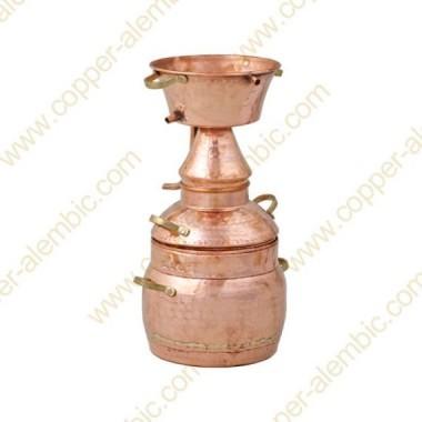 10 L Kupfer-Alquitar Stills mit Nietverbindungen Premium