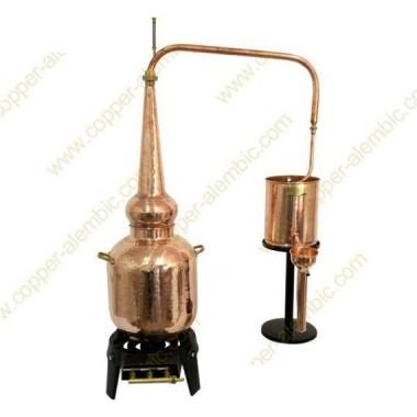 20 L Alambic Traditionnel Whisky Premium et Brûleur à Gaz