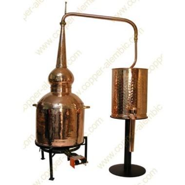 80 L Alambic Traditionnel Whisky Premium et Brûleur à Gaz