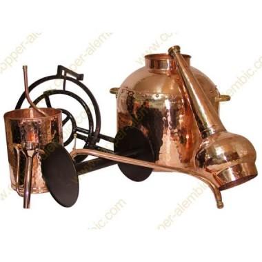 80 L Alambique Tradicional Whiskey Premium y Quemador de Gas