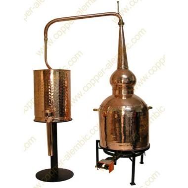 100 L Alambic Traditionnel Whisky Premium et Brûleur à Gaz
