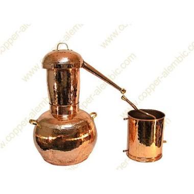 30 L Kupfer-Destillierkolben Arabischer Helmstil Premium